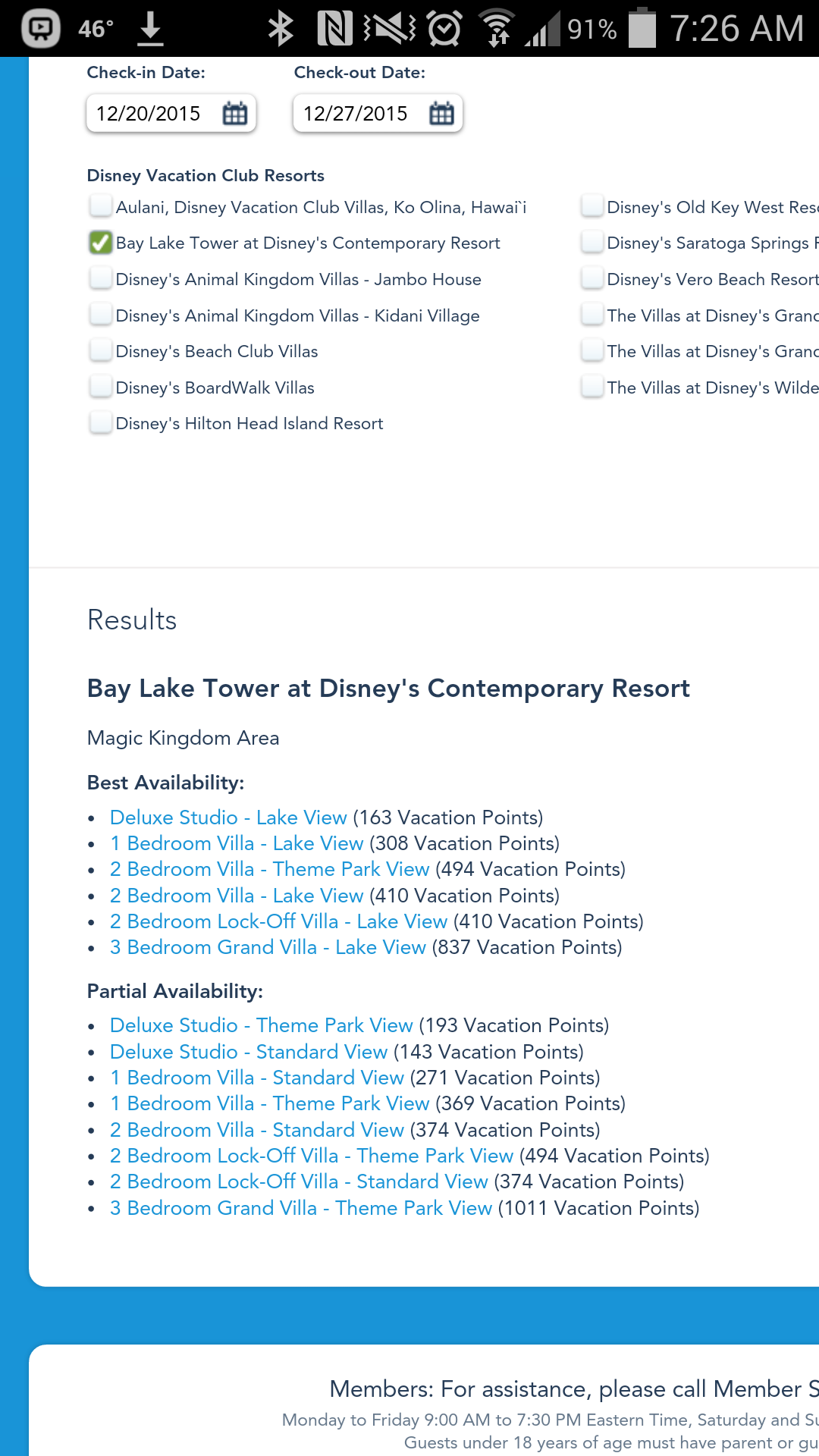 DVC availability  Accommodations  TouringPlans
